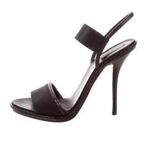 Balenciaga Snakeskin Slingback Sandals